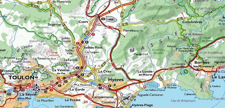 Map Of France Roads.French Michelin Maps And Toll Roads Explained